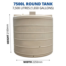 7500L Round Poly Tank (QTank)