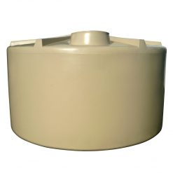 Q Tank 10000 litre Rural Poly Rainwater Tank - Smooth Cream