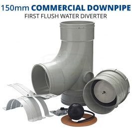 Rain Harvesting 150mm Commercial Downpipe First Flush Water Diverter
