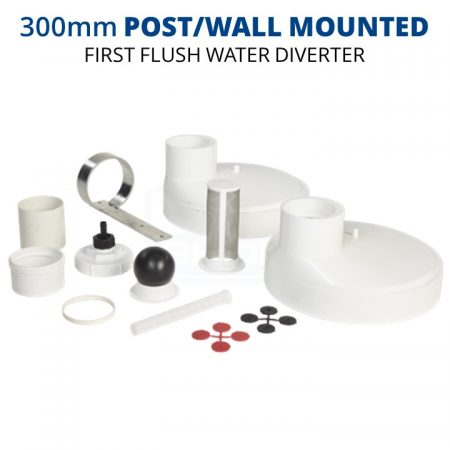 Rain Harvesting 300mm Post/Wall Mounted First Flush Water Diverter