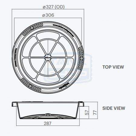 Rain Harvesting 300mm Tank Screen dimensions