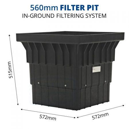 Rain Harvesting 560mm Filter Pit dimensions