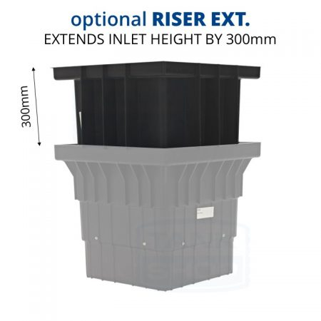 Rain Harvesting 560mm Filter Pit Optional Riser Extension