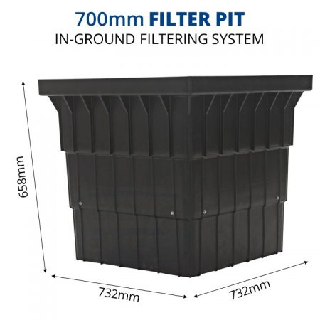 Rain Harvesting 700mm Filter Pit dimensions