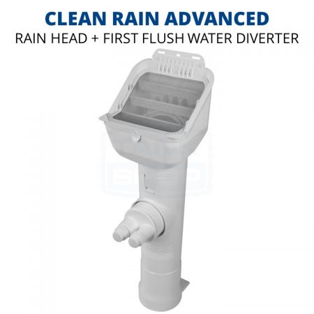 Rain Harvesting Clean Rain Advanced Rain Head + First Flush Downpipe Diverter
