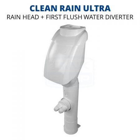 Rain Harvesting Clean Rain Ultra Rain Head/First Flush Downpipe Diverter