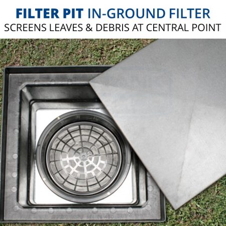 Rain Harvesting Filter Pit In-Ground Fitering System