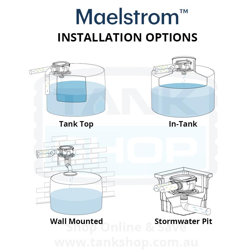 Rain Harvesting Maelstrom Filter Installation Options