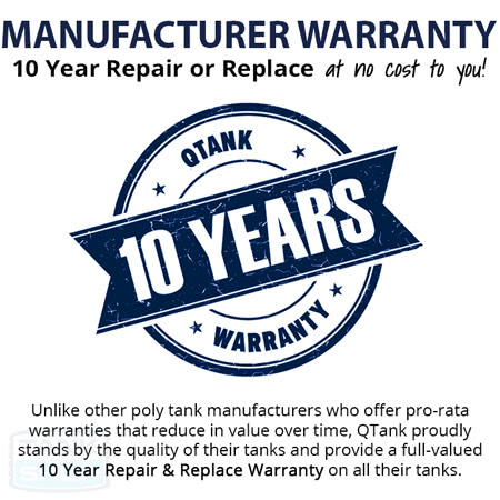 Poly Tank Manufacturer 10 Year Warranty