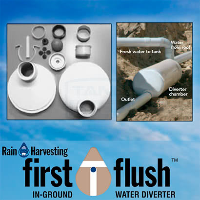 In-Ground First Flush Water Diverter (Rain Harvesting)